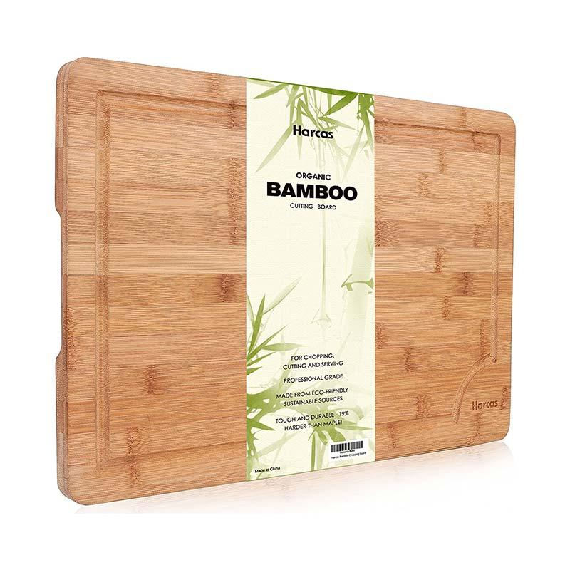 Émoussé Planche à découper en bambou Harcas