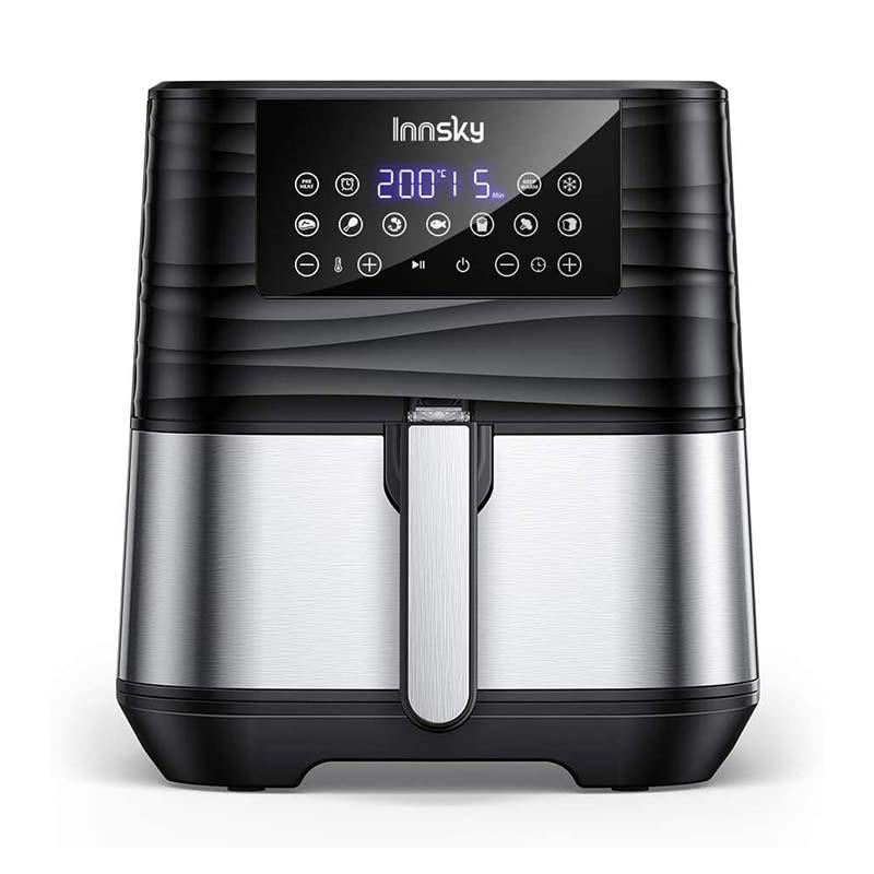 Innsky 5,5L XXL Friteuse sans huile en acier inoxydable avec écran LCD numérique
